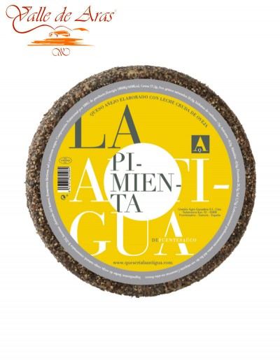 Queso de Oveja Añejo La Antigua a la Pimienta Negra