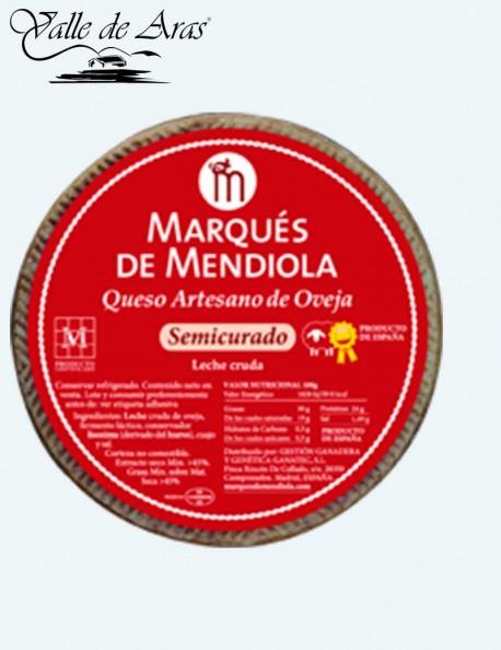 Queso Oveja Semicurado Artesano Marqués de Mendiola