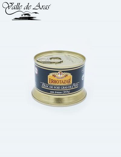Bloc de Foie-Gras de Pato 35% Trozos 130 gr. Errotazar