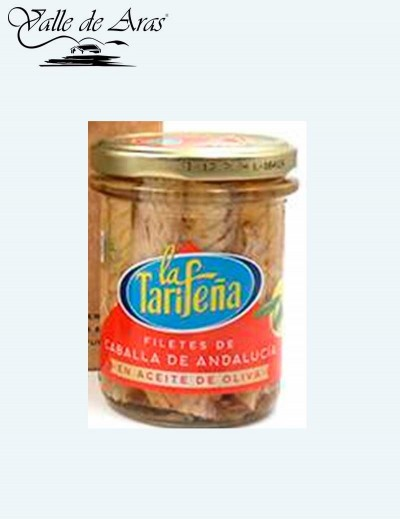 Filetes de Caballa de Andalucía La Tarifeña tarro de cristal 190 gr.