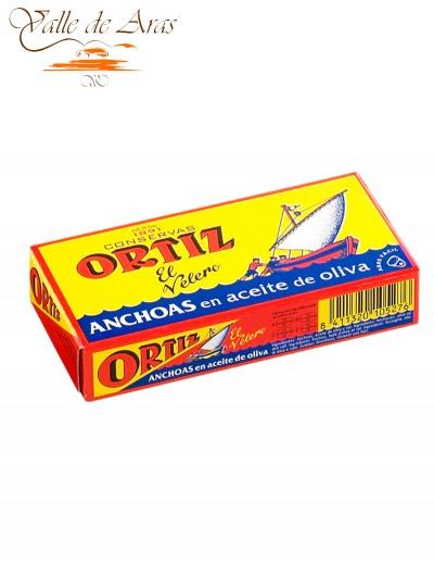 Filetes de Anchoa en Aceite de Oliva Ortiz lata 48g