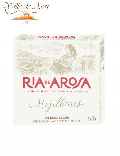 Mejillones en Escabeche Aceite de Oliva Ria de Arosa 6/8 Piezas Ortiz