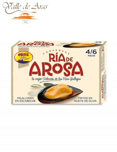 Mejillones en Escabeche Ria de Arosa 4/6 Ortiz