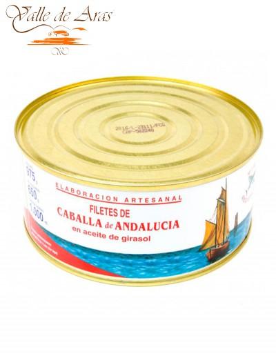 Filetes de Caballa de Andalucía en Aceite de Girasol Lata 975g La Tarifeña