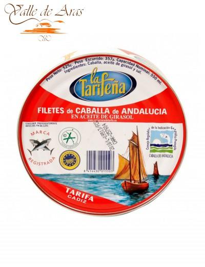 Filetes de Caballa de Andalucía en Aceite de Girasol Lata 525g La Tarifeña