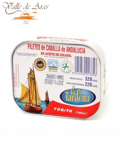 Filetes de Caballa de Andalucía en Aceite de Girasol Lata 237g La Tarifeña
