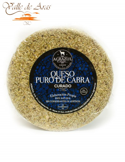 Queso Puro de Cabra Curado al Romero Agrazul 100% Natural Sin Gluten