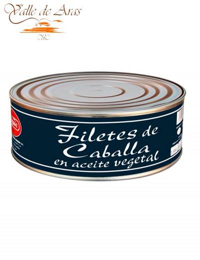 Filetes de Caballa en Aceite  900gr Arlequín