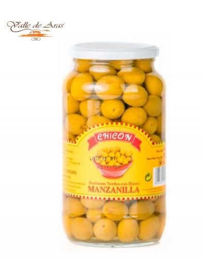 Aceitunas Manzanilla con o sin hueso Chicon