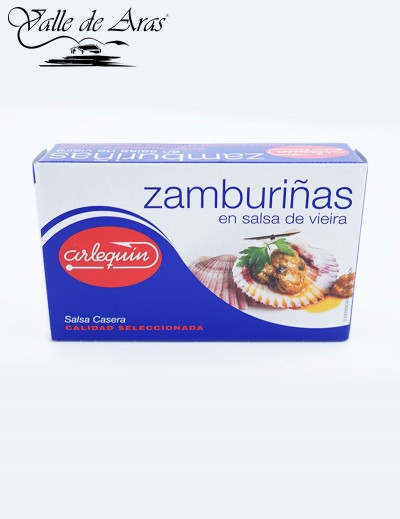 Zamburiñas en salsa vieira 120 gr. Arlequin