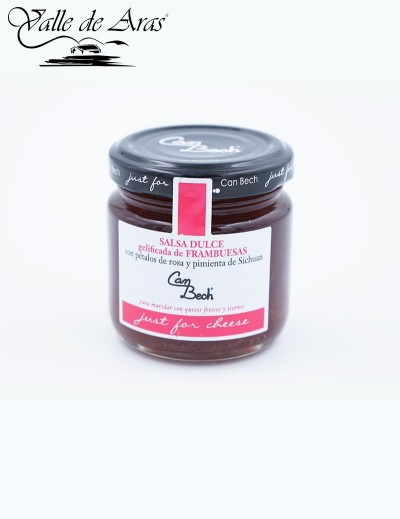 Mermelada dulce de frambuesas Can Bech
